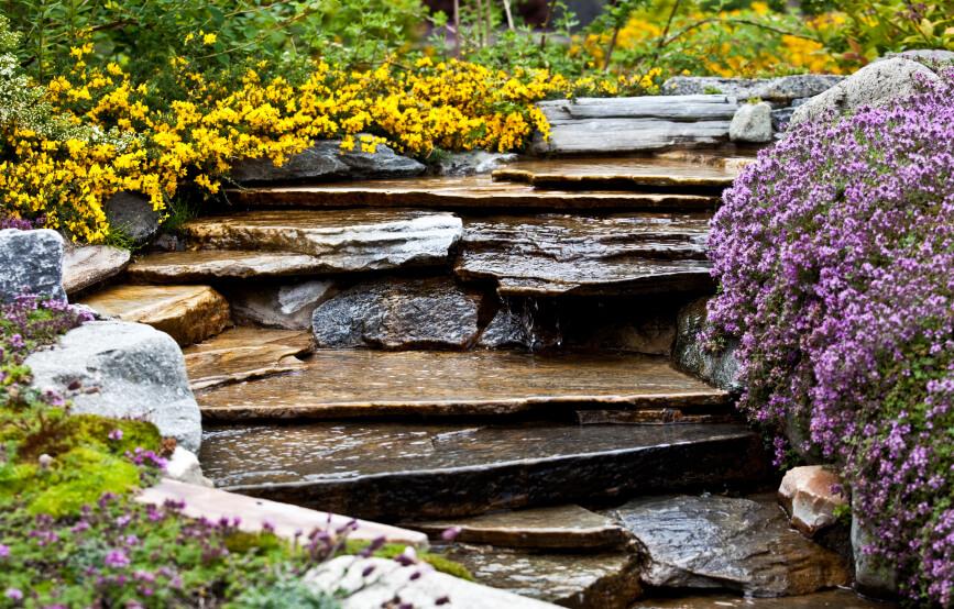 50 Pictures of Backyard Garden Waterfalls (Ideas & Designs) on Rock Garden Waterfall Ideas  id=92375