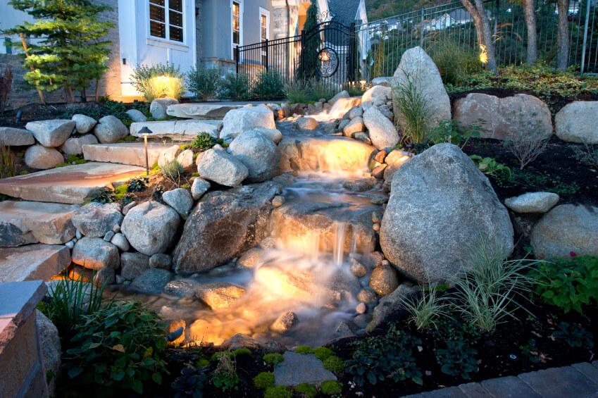 50 Pictures of Backyard Garden Waterfalls (Ideas & Designs) on Front Yard Waterfall Ideas id=41141