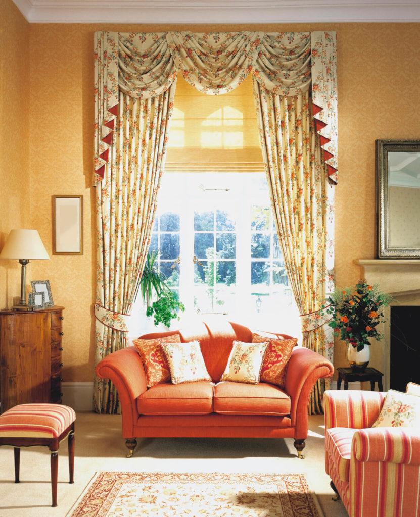 Grey Living Room With Yellow Sofa