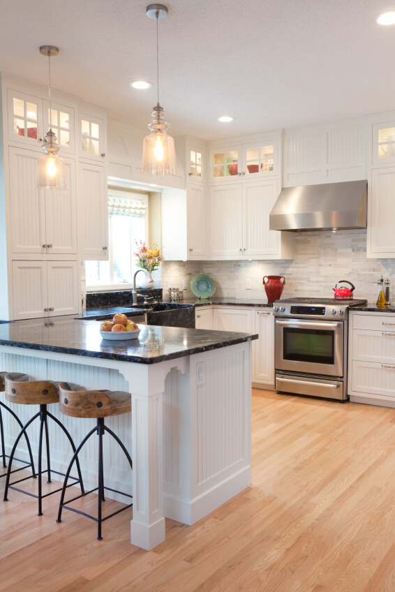 White Cabinets Light Wood Floors Novocom Top