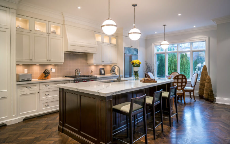 34 Kitchens with Dark Wood Floors (Pictures) on Maple Kitchen Cabinets With Dark Wood Floors Dark Countertops  id=39949