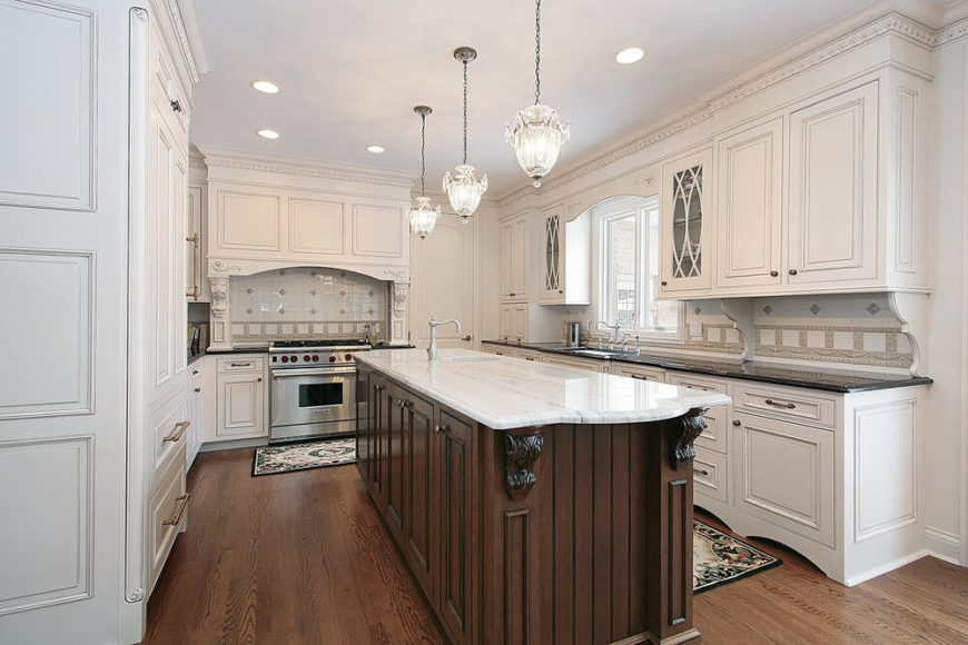 Light Or Dark Wood Floors With White Cabinets Novocom Top