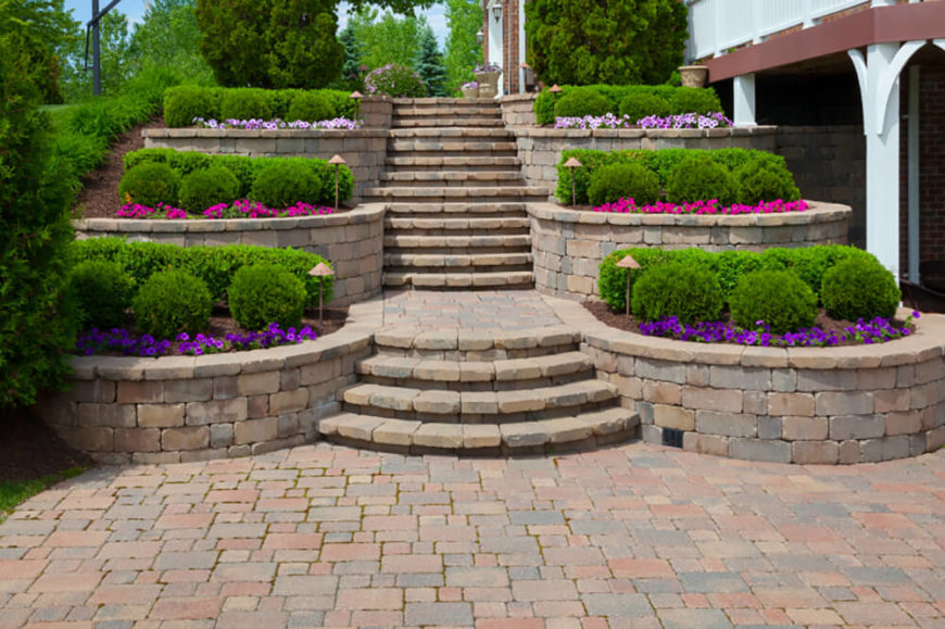 41 Stunning Backyard Landscaping Ideas (PICTURES) on Backyard Patio Steps id=54719
