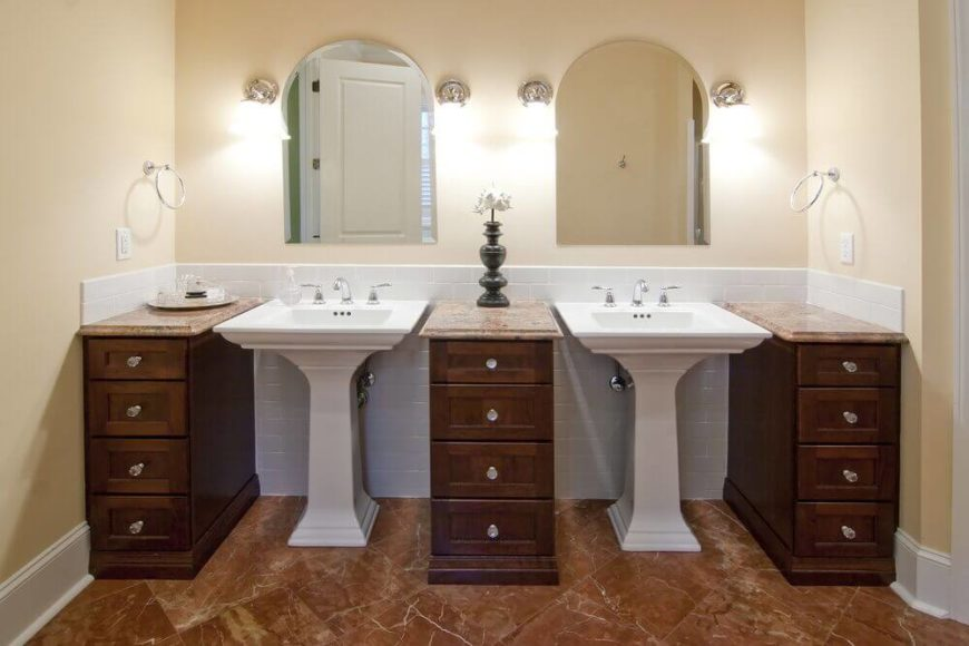 20 Captivating Bathrooms With Square Sinks (GREAT PHOTOS
