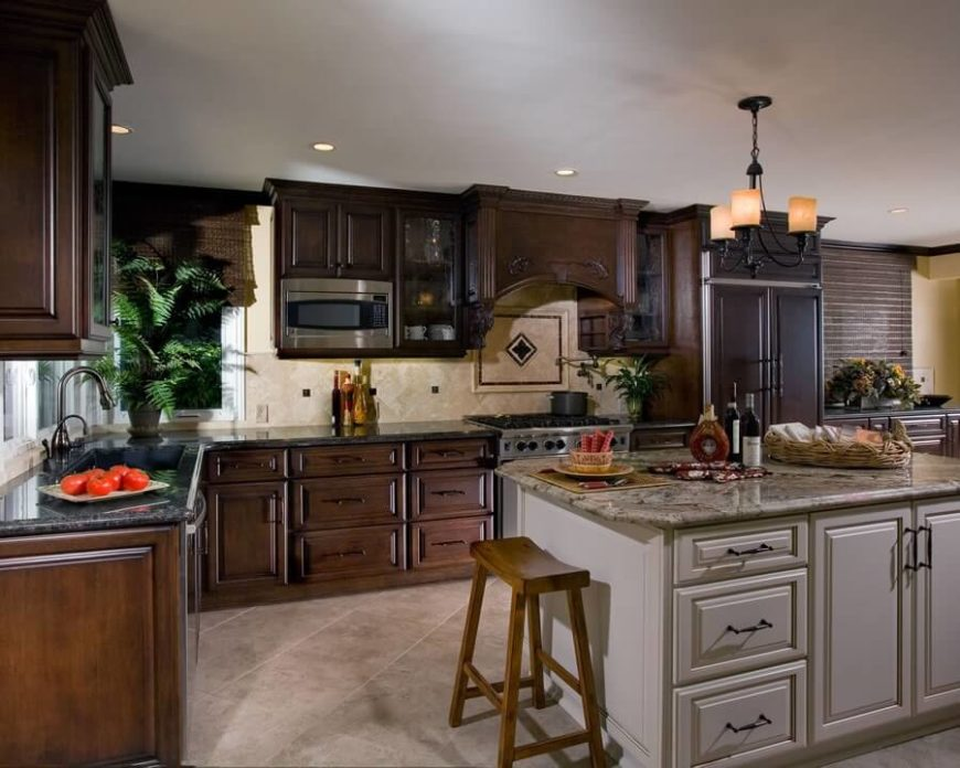 25 Remarkable Kitchens with Dark Cabinets and Dark Granite ... on Dark Granite Countertops With Dark Cabinets  id=89780
