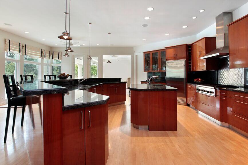 25 Remarkable Kitchens with Dark Cabinets and Dark Granite ... on Dark Granite Countertops With Dark Cabinets  id=74670