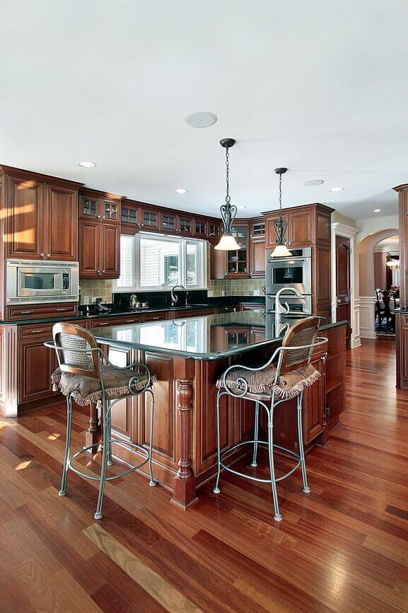 25 Remarkable Kitchens with Dark Cabinets and Dark Granite ... on Dark Granite Countertops With Dark Cabinets  id=86245