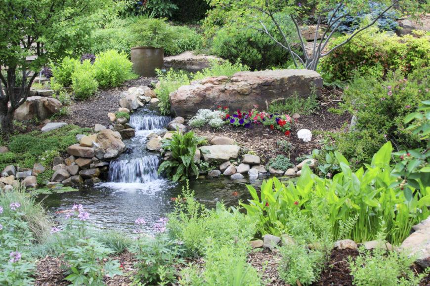32 Backyard Rock Garden Ideas on Rock Garden Waterfall Ideas  id=37061