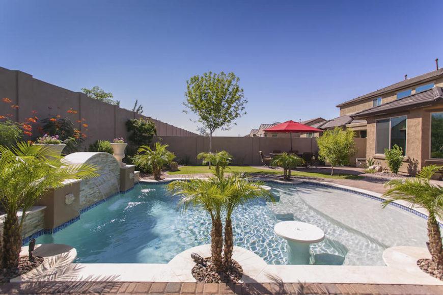 30 Spectacular Backyard Palm Tree Ideas - Home Stratosphere on Palm Tree Backyard Ideas id=38929