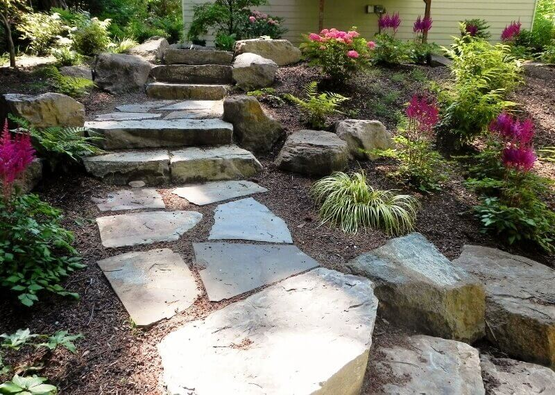 37 Magnificent Backyard Stone Step Ideas on Stepping Stone Patio Ideas  id=26105
