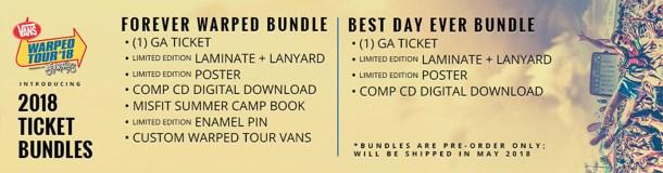 Vans Warped Tour Limited Edition Ticket Bundles