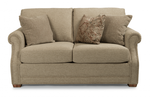 Flexsteel Furniture   Browse Sofas  Sleepers and Loveseats Fabric Loveseat with Nailhead Trim