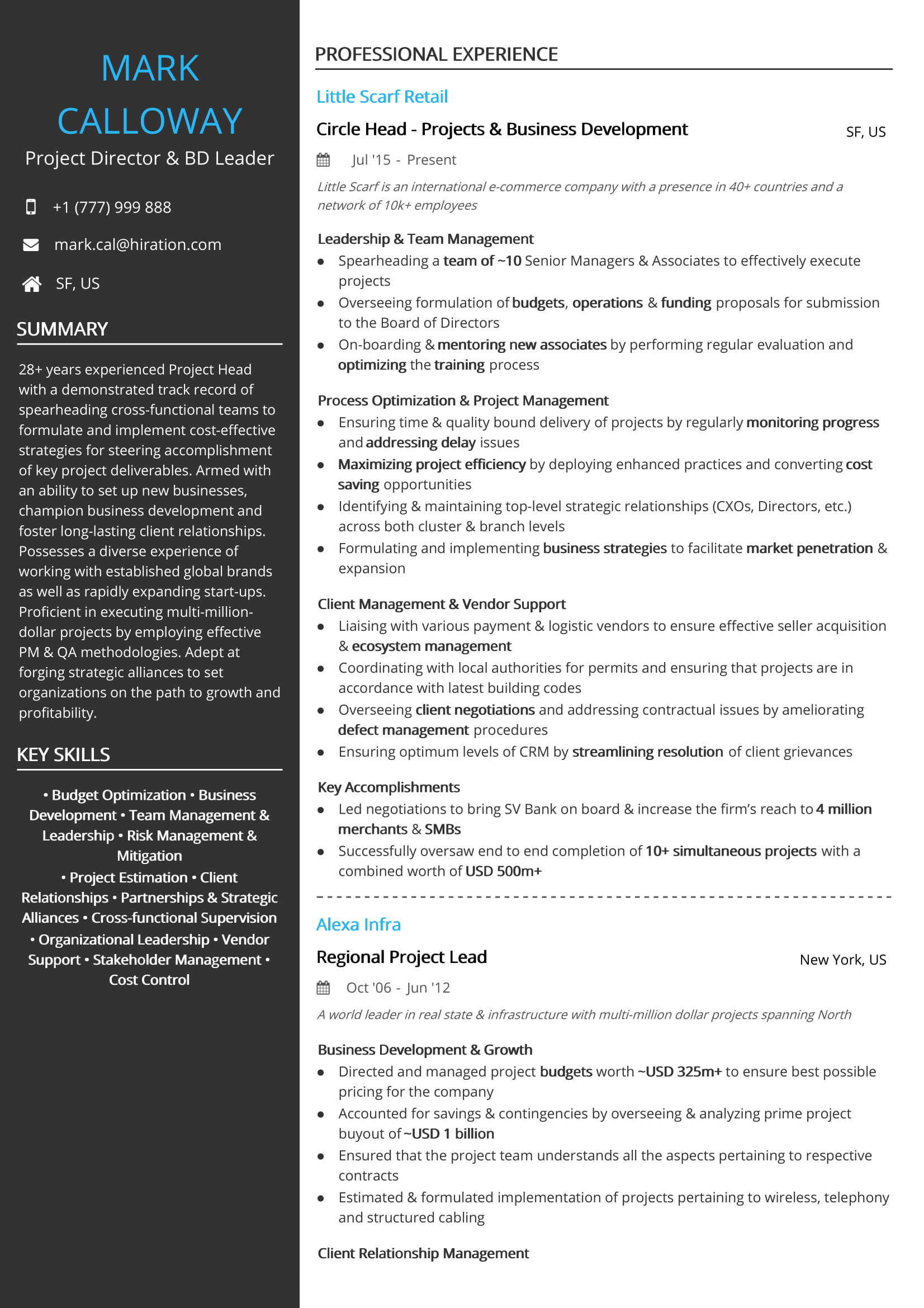 Project Management Resume Examples Amp Resume Samples 2020