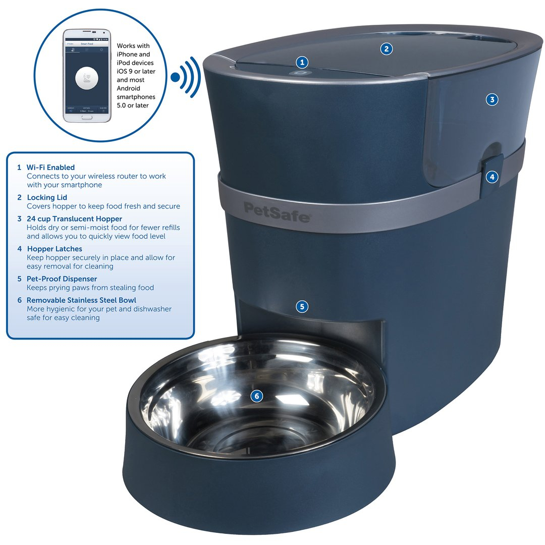 Smart Feed Automatic Pet Feeder For Iphone And Android By