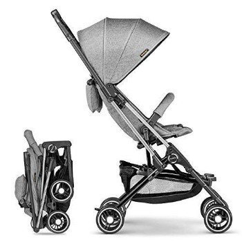Besrey-Airplane-Stroller-One-Step-Design-for-Opening-Folding-Lightweight-Baby-Stroller-for-Infant-Convertible-Baby-Carriage-Gray-1