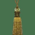 Pair Curtain Tie Back 32cm Tassel Antique Gold