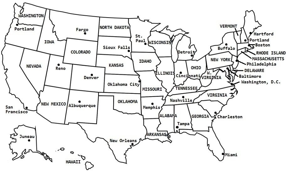 Also included is a fill in sheet (quiz) for students to name the. Fix The Us Map Quiz
