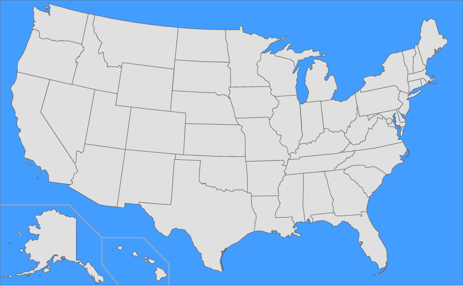 A map of which states have legalized fireworks. Find The Us States Quiz
