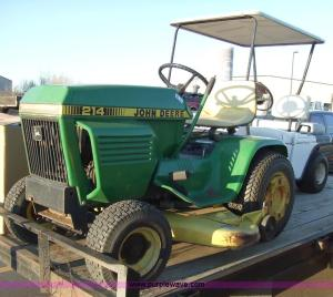 John Deere 214 riding lawn mower with attachments | Item