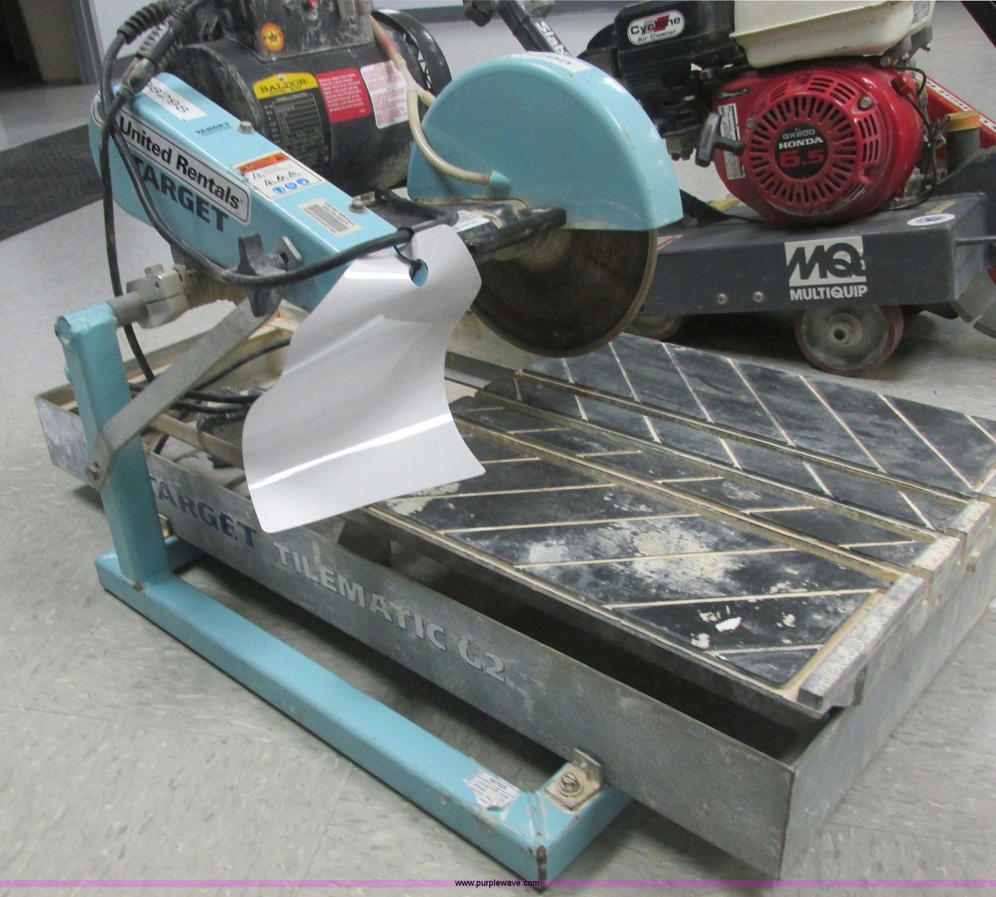2006 target tilematic g2 tile saw wet