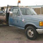 1990 Ford F350 Flatbed Truck In Wichita Ks Item H5436 Sold Purple Wave