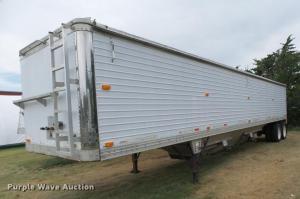 1996 Timpte double hopper bottom grain trailer   Item
