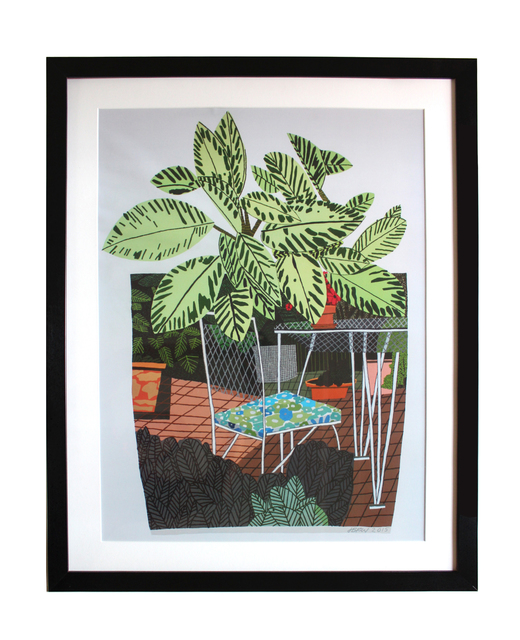 jonas wood landscape pot with flower chair poster 2015 available for sale artsy
