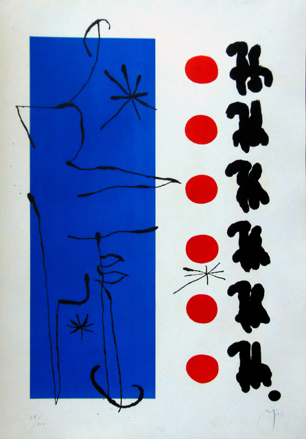 joan miro red and blue rouge et bleu 1960 available for sale artsy