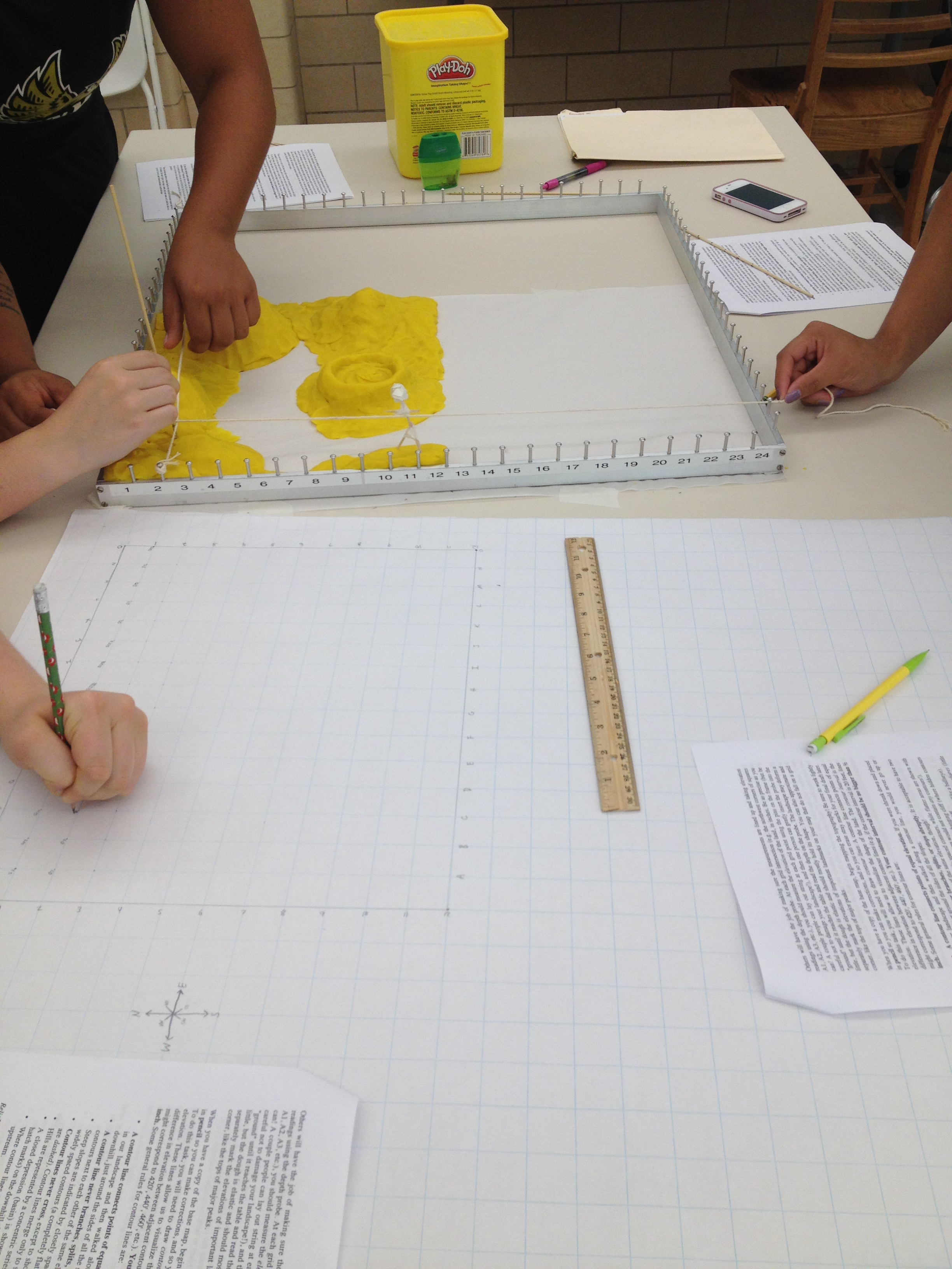Contour Mapping With Playdough