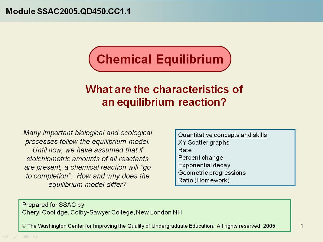 Chemical Equilibrium What Are The Characteristics Of Equilibrium Reactions
