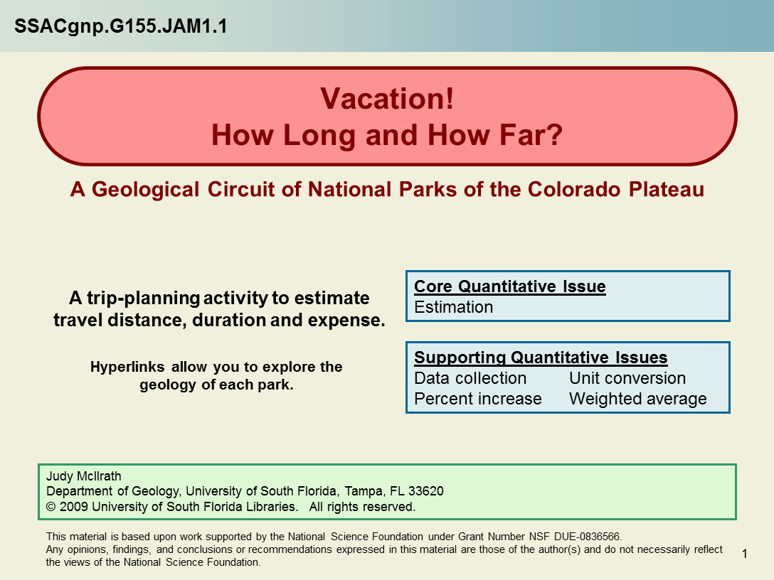 Vacation How Long And How Far A Geological Circuit Of