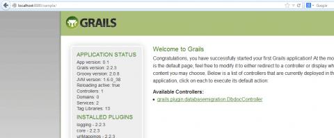 Grails Sample Application