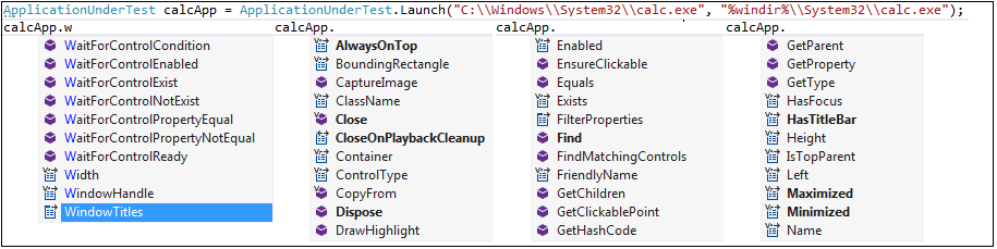 Windows Application Testing - Actions