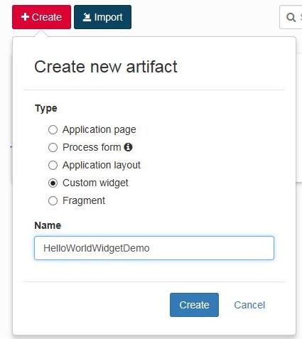Creating Widget