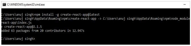 Install Create React App