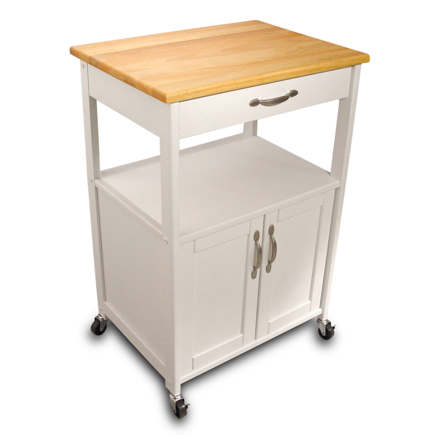 white kitchen trolley with lacquered