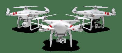 DJI Phantom helicopter drone
