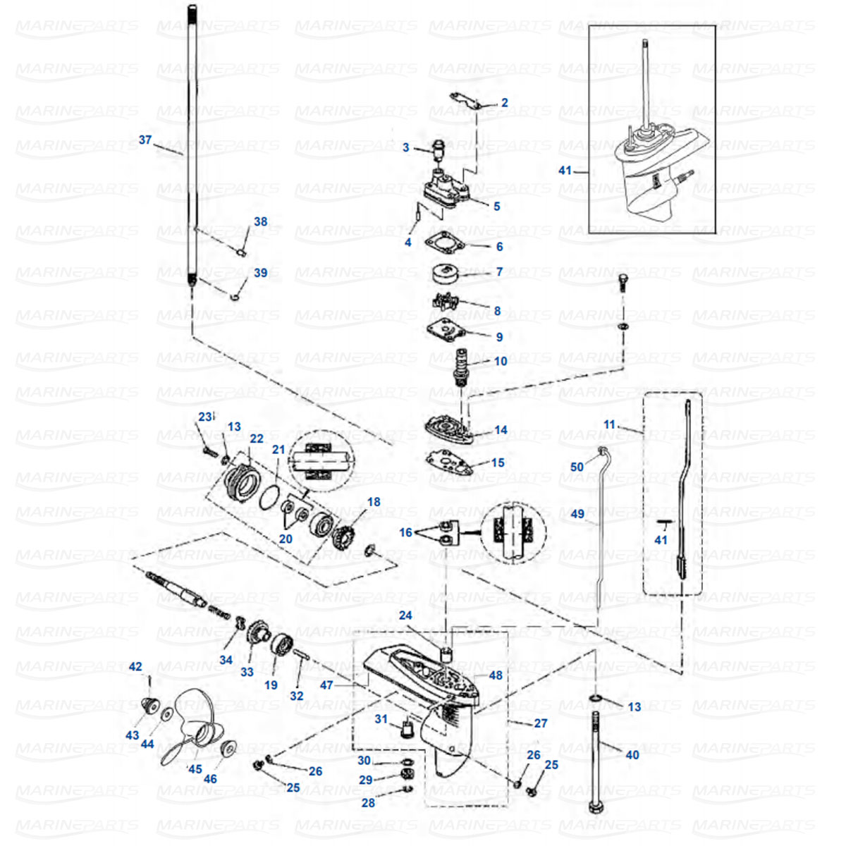 Yamaha Gearcase Parts For Outboard Motor Marineparts
