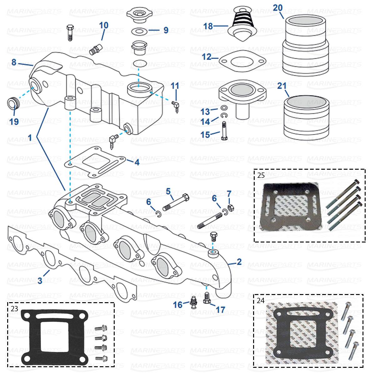 Spare Parts Inboards Mercruiser Engine Parts