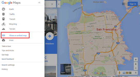 Integrating a Google Map of your Headquarter in the footer of the     Choose Share or embed map