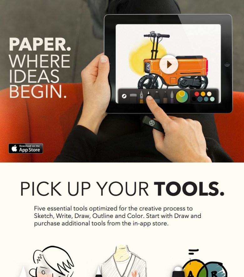Paper Landing Page Copy