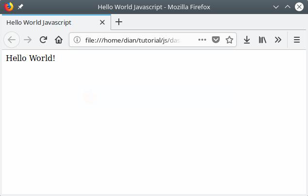 Program hello world Javascript