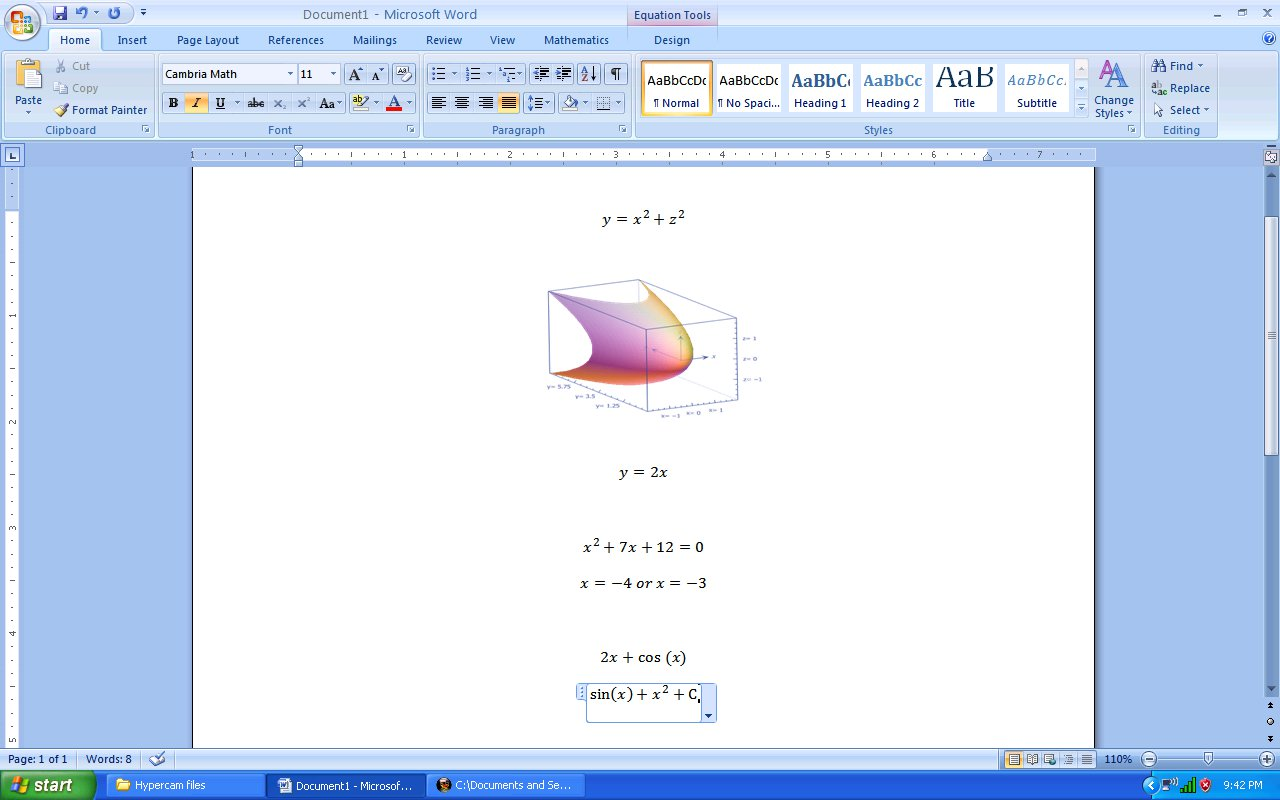 Microsoft Math Add In For Word And Onenote