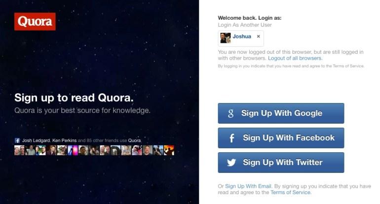 Quora Landing Page Copy