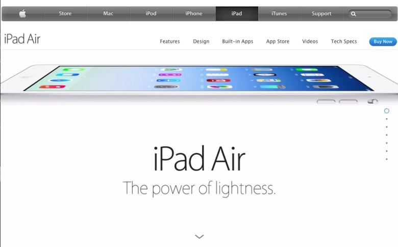 iPad Air Landing Page Copy