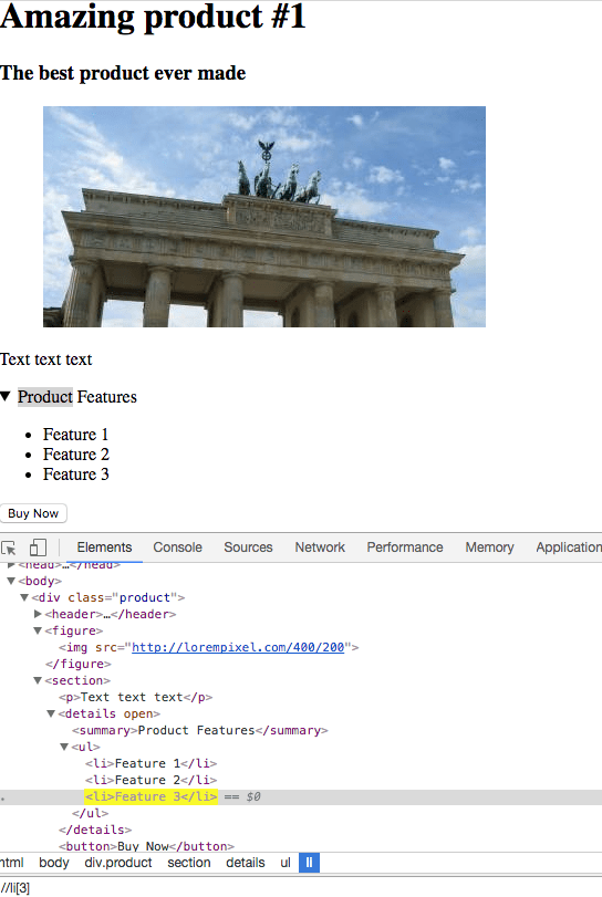 XPath expression in Chrome dev tools