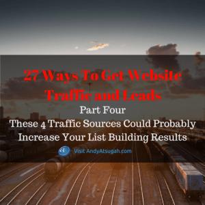 27 web traffic part 4_list building