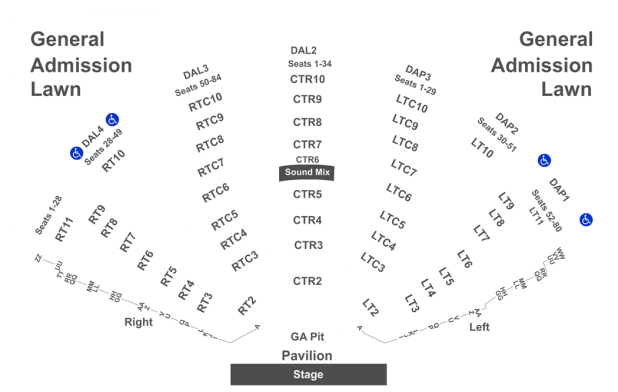 Dte Energy Music Theatre Seating Chart Pdf Www