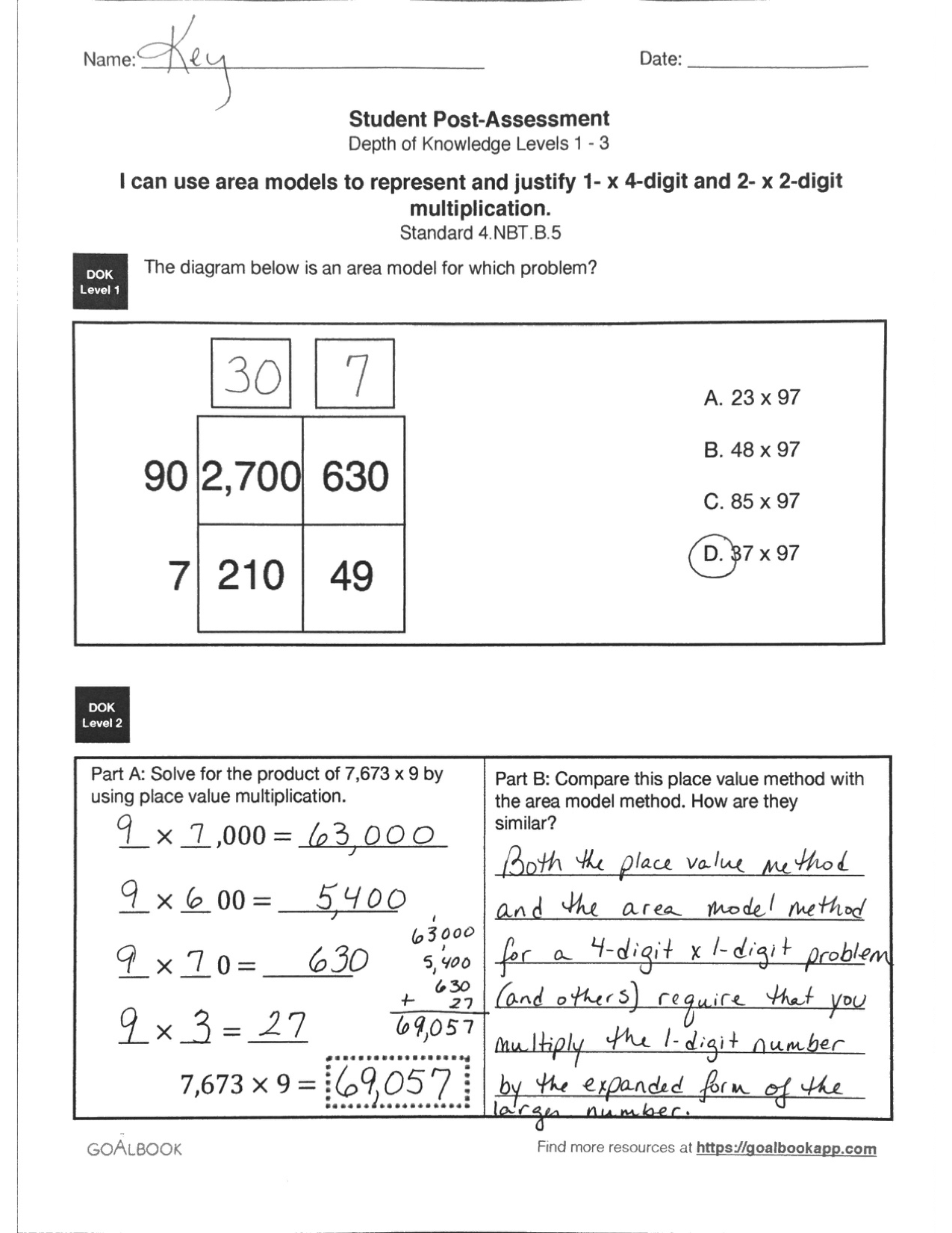 4 Nbt 5 Calculate And Explain Multiplication