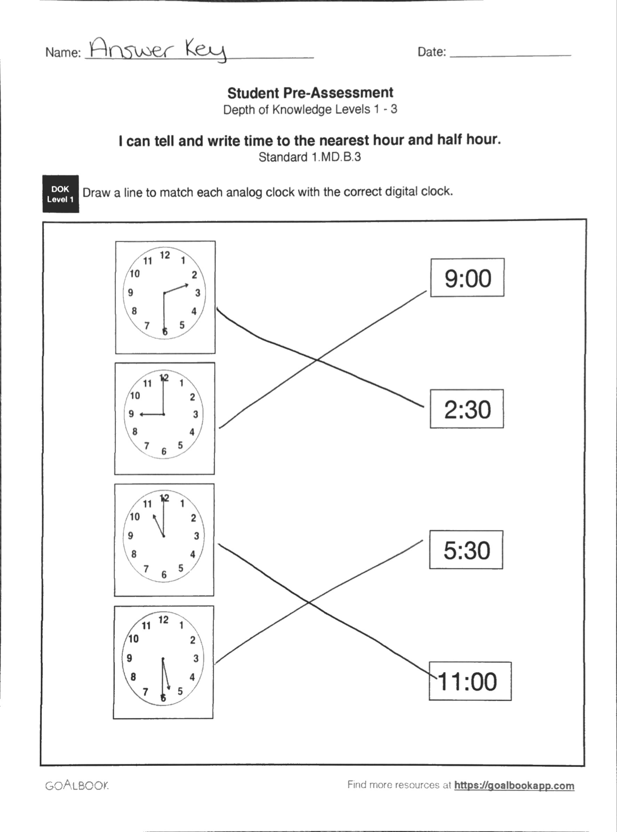 1 Md 3 Tell And Write Time